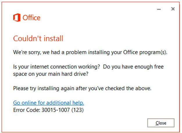 Office-2016-Couldnt-Install-error-30015-1007
